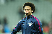 Leroy Sane (#19) of Manchester City warms up ahead of the Premier League match between Newcastle United and Manchester City at St. James's Park, Newcastle, England on 27 December 2017. Photo by Craig Doyle.