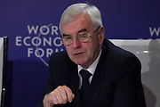 """John McDonnell, Shadow Chancellor of the Exchequer of the United Kingdom speaking during the Session """"Will Free Markets Make a Comeback?"""" at the Annual Meeting 2018 of the World Economic Forum in Davos, January 26, 2018.<br /> Copyright by World Economic Forum / Greg Beadle"""