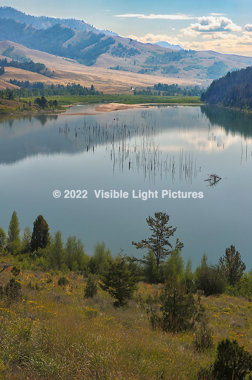Lake and valley in the Bridger Teton Forest, Jackson Hole, Wyoming