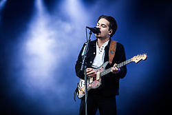 June 17, 2018 - Landgraaf, Limburg, Netherlands - Clemens Rehbein of Milky Chance performing live at Pinkpop Festival 2018 in Landgraaf Netherlands  (Credit Image: © Roberto Finizio/NurPhoto via ZUMA Press)