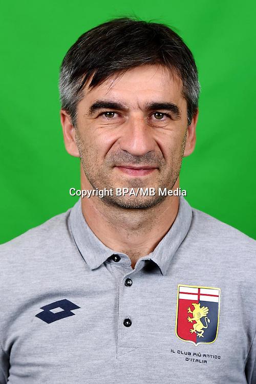 Italian League Serie A -2016-2017 / <br /> ( Genoa CFC ) - <br /> Ivan Juric - DT Genoa CFC