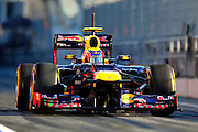 Mark Webber (AUS) drives the Red Bull Racing RB8  Formula One Testing, Circuit de Catalunya, Barcelona, Spain, World Copyright: Jamey Price