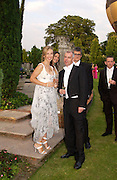 Jay Jopling, Sam Taylor Wood and Neil Tennant, Elton John's White Tie and Tiara Ball. Windsor, 28 June 2003. © Copyright Photograph by Dafydd Jones 66 Stockwell Park Rd. London SW9 0DA Tel 020 7733 0108 www.dafjones.com