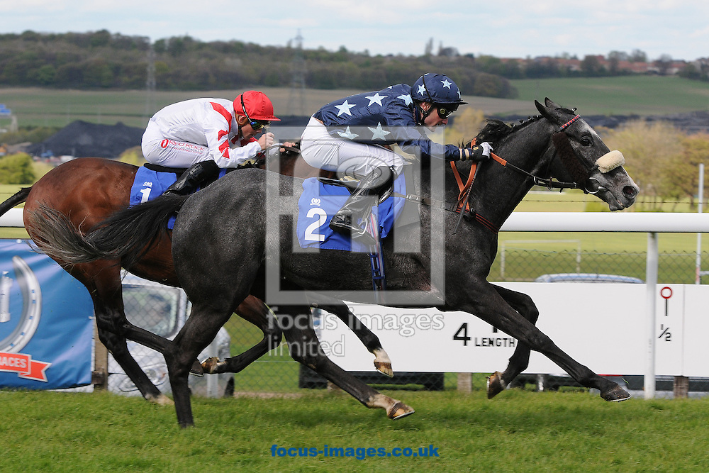 Trinity Star and jockey Paul Mulrennan win The Betfred Supports The NRC Handicap Stakes at Pontefract Races, Pontefract<br /> Picture by Alan Wright/Focus Images Ltd 07733 196489<br /> 29/04/2015