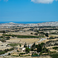 View from Mdina of Mosta;<br />Gozo, Malta, Europe.<br />Summer 2016.