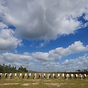 October 15, 2008 -- GULFPORT, Miss. -- U.S. Navy sailors practice firing on paper targets from three yards on the first day of live firing with the 9mm Beretta Pistol. Sailors train in handgun marksmanship at Woolmarket pistol and rifle range as part of Expeditionary Combat Skills School (ECS).  .The ECS school is designed to build a basic level of battlefield competence for sailors from the Navy's newly formed Expeditionary Combat  Combat Command  (NECC) community. The students have a wide range of precision modern warfare skills. Because the Navy is supporting missions ashore more than ever, there is a significant need for sailors to gain land-based combat skills. The aim of the school is to provide NECC sailors basic warfighting and survival capabilities. Photo by Mass Communication Specialist 1st Class Roger S. Duncan.  (RELEASED)