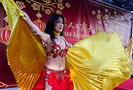 Dancers perform during the Asian American Expo. at Fairflex on Sunday January 14, 2018 in Pomona, California.(Photo by Ringo Chiu)<br /> <br /> Usage Notes: This content is intended for editorial use only. For other uses, additional clearances may be required.