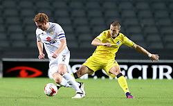 Billy Bodin of Bristol Rovers tries to tackle Dean Lewington of Milton Keynes Dons - Mandatory by-line: Robbie Stephenson/JMP - 18/10/2016 - FOOTBALL - Stadium MK - Milton Keynes, England - Milton Keynes Dons v Bristol Rovers - Sky Bet League One