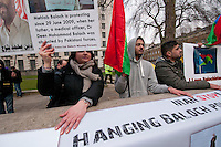 Balochistan Protest outside Downing Street protesting genocide by occupation of Pakistan.