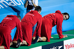 Team of Serbia celebrates after the Men's  Waterpolo Final match between National teams of Serbia and Spain during the 13th FINA World Championships Roma 2009, on August 1, 2009, at the Stadio del Nuoto,  in Foro Italico, Rome, Italy. Serbia won after penalties shootout 14:13.  (Photo by Vid Ponikvar / Sportida)
