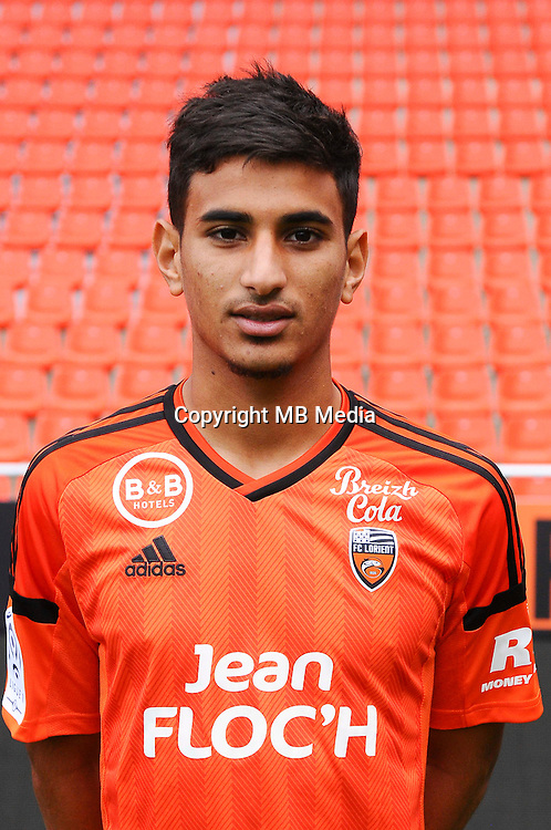 Issam Ben Khemis during the Fc Lorient photocall for the season 2016/2017 in Lorient on September 16th 2016<br /> Photo : Philippe Le Brech / Icon Sport