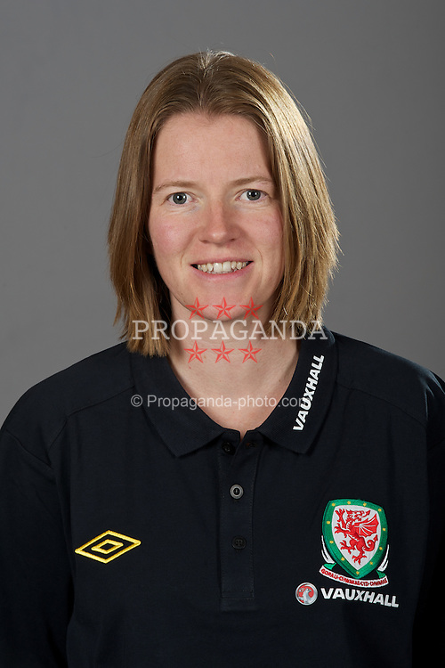 NEWPORT, WALES - Tuesday, August 30, 2011: Wales' performance analyst Esther Laugharne. (Pic by David Rawcliffe/Propaganda)