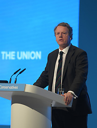 Scottish Secretary Alister Jack delivers his speech at the Conservative Party conference in Manchester on it's final day.<br /> <br /> © Dave Johnston / EEm