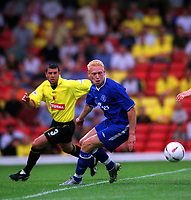 Mikael Forssell (Chelsea) Watford v Chelsea, Pre-Season Friendly, 5/08/2003. Credit: Colorsport / Matthew Impey