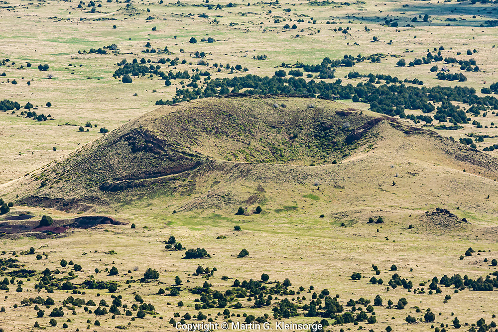 6,890 ft. Little Capulin as viewed from the summit of Capulin Volcano.  Capulin Volcano National Monument,  New Mexico.