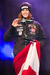 20.02.2016, Altstadt, Innsbruck, AUT, FIBT WM, Bob und Skeleton, Damen, Skeleton, Siegerehrung, im Bild Janine Flock (AUT, Silbermedaille) // Silver medalist Janine Flock of Austria celebrates on Podium during award winner ceremony for the women Skeleton of FIBT Bobsleigh and Skeleton World Championships at the Altstadt in Innsbruck, Austria on 2016/02/20. EXPA Pictures © 2016, PhotoCredit: EXPA/ Johann Groder