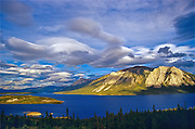 Nares Lake, an arm of Tagish Lake and the Coast Mountains<br /> Near Carcross<br /> Yukon<br /> Canada
