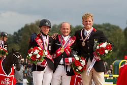 Jung Michael (GER) Gold individual<br /> Auffarth Sandra (GER) Silver medal<br /> Ostholt Frank (GER) Bronze medal<br /> European Championship Eventing - Lühmuhlen 2011<br /> © Dirk Caremans