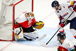 Bence Balizs of Hungary vs Alex Plante of Korea during ice hockey match between Hungary and Korea at IIHF World Championship DIV. I Group A Kazakhstan 2019, on April 29, 2019 in Barys Arena, Nur-Sultan, Kazakhstan. Photo by Matic Klansek Velej / Sportida