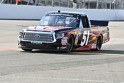 June 22, 2018 - Madison, Illinois, U.S. - MADISON, IL - JUNE 22:  Riley Herbst (51) driving a Toyota for Advance Auto Parts warms up before  the Camping World Truck Series - Eaton 200 on June 22, 2018, at Gateway Motorsports Park, Madison, IL.   (Photo by Keith Gillett/Icon Sportswire) (Credit Image: © Keith Gillett/Icon SMI via ZUMA Press)