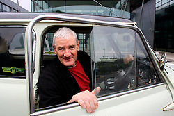 UK ENGLAND WILTSHIRE MALMESBURY 14SEP06 - Inventor and company chairman James Dyson (58) sits in a classic Mini car in front of the Dyson headquarters in Malmesbury, Wiltshire. His company - with its distinctive range of boldly-coloured products - is now said to be Europe's fastest growing manufacturer and has achieved sales of over £3bn worldwide, with £35m profit in 2000.<br /> <br /> jre/Photo by Jiri Rezac<br /> <br /> © Jiri Rezac 2006