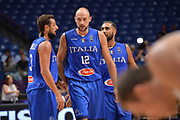 Marco Cusin, Marco Belinelli, Pietro Aradori<br /> Nazionale Italiana Maschile Senior<br /> Eurobasket 2017 - Group Phase<br /> Ukraina - Italia<br /> FIP 2017<br /> Tel Aviv, 02/09/2017<br /> Foto Ciamillo - Castoria/ M.Longo