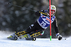 06.01.2014, Stelvio, Bormio, ITA, FIS Weltcup Ski Alpin, Bormio, Slalom, Herren, im Bild Giuliano Razzoli // Giuliano Razzoli  in action during mens Slalom of the Bormio FIS Ski World Cup at the Stelvio in Bormio, Italy on 2014/01/06. EXPA Pictures © 2014, PhotoCredit: EXPA/ Sammy Minkoff<br /> <br /> *****ATTENTION - OUT of GER*****