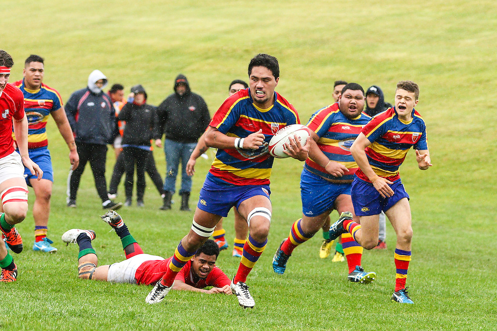 Under 21 grade Rugby union match between Tawa v MSP  at  Redwood Park, Tawa, Wellington, New Zealand on 30 July 2016. Game won 19-17 by MSP.