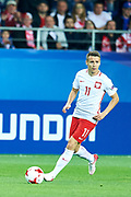 Lublin, Poland - 2017 June 16: Przemyslaw Frankowski from Poland U21 controls the ball while Poland v Slovakia match during 2017 UEFA European Under-21 Championship at Lublin Arena on June 16, 2017 in Lublin, Poland.<br /> <br /> Mandatory credit:<br /> Photo by &copy; Adam Nurkiewicz / Mediasport<br /> <br /> Adam Nurkiewicz declares that he has no rights to the image of people at the photographs of his authorship.<br /> <br /> Picture also available in RAW (NEF) or TIFF format on special request.<br /> <br /> Any editorial, commercial or promotional use requires written permission from the author of image.