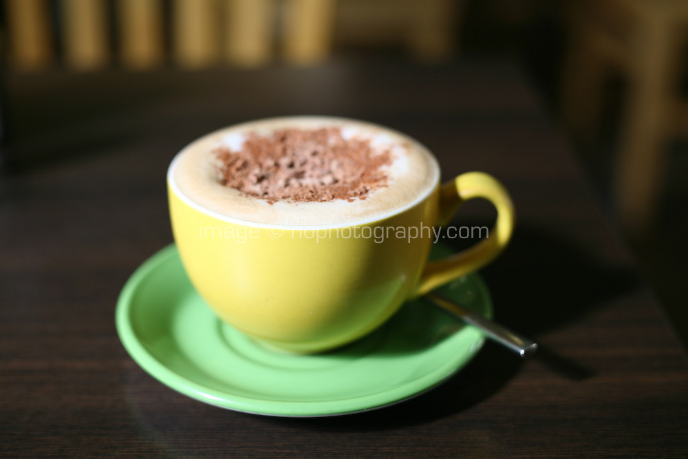 cappuccino with chocolate sprinkles