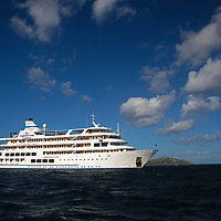 Oceania, Fiji. Captain Cook Cruises Reef Endeavor small cruiseship.