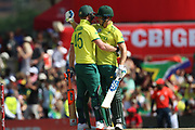 Heinrich Klassen celebrates his 50 during the International T20 match between South Africa and England at Supersport Park, Centurion, South Africa on 16 February 2020.