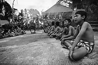 Kecak dance performance by Pak Reno, Ubud, Bali, Indonesia.