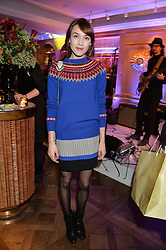 ELLA CATLIFF at the Fortnum & Mason and Quintessentially Foundation Fayre of St.James's in association with The Crown Estate held at St.James's Church, Piccadilly followed but a reception at Fortnum & Mason, Piccadilly,London on 5th December 2013.