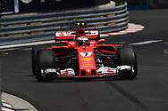 Kimi Raikkonen of Scuderia Ferrari during the practice session for the 2017 Monaco Formula One Grand Prix at the Circuit de Monaco, Monte Carlo<br /> Picture by EXPA Pictures/Focus Images Ltd 07814482222<br /> 25/05/2017<br /> *** UK &amp; IRELAND ONLY ***<br /> <br /> EXPA-EIB-170525-0075.jpg