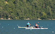 Aiguebelette, FRANCE. GBR ASW1X, Rachel MORRIS leads the field home in the first repechage, Friday Para Rowing ASW1X Repechage at the 2014 FISA World Cup II, Friday Para Rowing ASW1X Repechage at the 2014 FISA World Cup II, 18:20:16  Friday  20/06/2014. [Mandatory Credit; Peter Spurrier/Intersport-images]