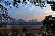 Li River and Karst landscape around Yangshuo, China