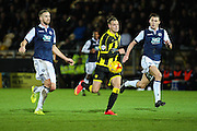 Burton Albion forward Timmy Thiele breaks clear and heads for the goal during the Sky Bet League 1 match between Burton Albion and Millwall at the Pirelli Stadium, Burton upon Trent, England on 1 December 2015. Photo by Aaron Lupton.