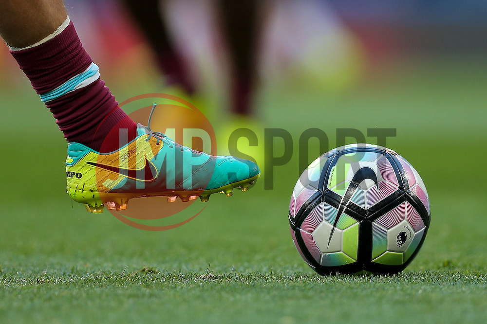 Nike Tiempo boot and Premier League Matchball - Rogan Thomson/JMP - 15/08/2016 - FOOTBALL - Stamford Bridge Stadium - London, England - Chelsea v West Ham United - Premier League Opening Weekend.