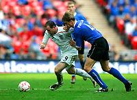 Photo: Tom Dulat.<br /> England v Estonia. UEFA European Championships Qualifying. 13/10/2007.<br /> Raio Piiroja of Estonia and Wayne Rooney of England with the ball.