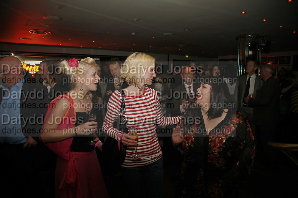Leigh Purves, Charli Morgan and Dawn French, First night party for Smaller  at Floridita, 100 Wardour Street W1 on Tuesday 4 AprilONE TIME USE ONLY - DO NOT ARCHIVE  © Copyright Photograph by Dafydd Jones 66 Stockwell Park Rd. London SW9 0DA Tel 020 7733 0108 www.dafjones.com