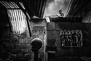 Vista de una de las casas que fue arrasada por las cenizas y los lodos provenientes del volcán de Fuego  en la comunidad de San Miguel de los lotes, departamento de Escuntla el día 07 de junio de 2018. Hasta el momento la erupción del volcán ha dejado más de 100 muertos y 300 desaparecidos, la actividad volcánica no ha cesado y las condiciones de tormenta han impedido que la labor de búsqueda por parte de las familias continúe.