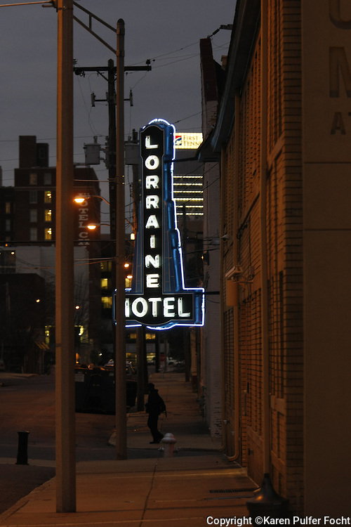 The NATIONAL CIVIL RIGHTS MUSEUM in Memphis Tennessee is the former Lorrainne Motel. It was the segregated hotel where Martin Luther King was staying when he was assassinated.