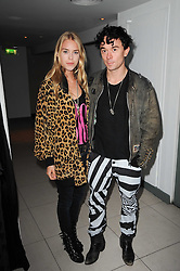 MARY CHARTERIS and musician ROBBIE FURZE at the W Hotels & American Express launch for the James Small collection at Number One Leicester Square, London on 22nd September 2010.