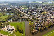 Nederland, Drenthe, Coevorden, 01-05-2013;<br /> noordelijk gedeelte van de stad, gezien in zuidzuidoostelijke richting met Van Heutzsingel en Burgmeester Feithsingel<br /> Coevorden, provincial city near German border (East Holland).<br /> luchtfoto (toeslag op standard tarieven);<br /> aerial photo (additional fee required);<br /> copyright foto/photo Siebe Swart