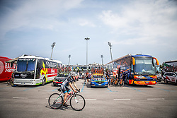 Team buses during Stage 1 of 24th Tour of Slovenia 2017 / Tour de Slovenie from Koper to Kocevje (159,4 km) cycling race on June 15, 2017 in Slovenia. Photo by Vid Ponikvar / Sportida