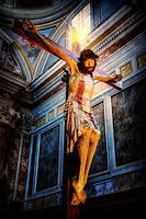 """Sunlight illuminates the Crucifix - Sorrento Cathedral""…<br />