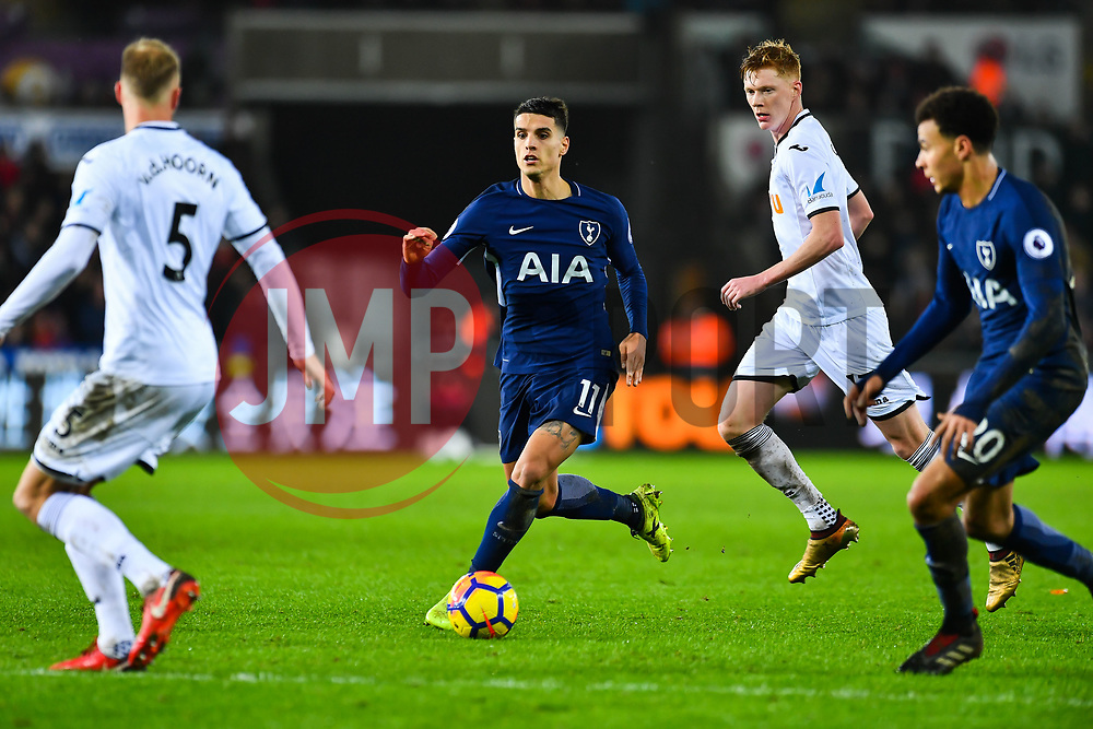 Erik Lamela of Tottenham Hotspur in action - Mandatory by-line: Craig Thomas/JMP - 02/01/2018 - FOOTBALL - Liberty Stadium - Swansea, England - Swansea City v Tottenham Hotspur - Premier League