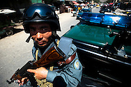 Members of the Afghan National Police patrol Kabul, Afghanistan August 12, 2009. With the August 20th presidential election approaching, security around the country has tightened with fears of violence. 41 Candidates are due to run in Afghanistan's presidential elections which are to be held on August 20. The incumbent president Karzai is considered to be the frontrunner despite claims of corruption and what many consider an ineffectual government.