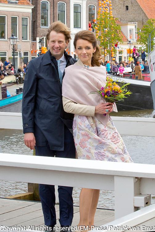 De koninklijke familie is in Zwolle voor de viering van Koningsdag. /// The royal family is in Zwolle for the celebration of King's Day.<br /> <br /> Op de foto / On the photo:   Prins Floris en Prinses Aimée